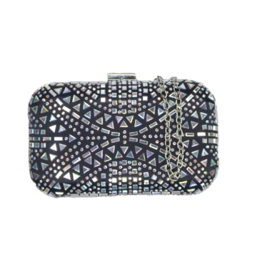 front of embellished bag