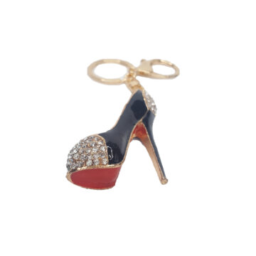 High heel shaped bag charm