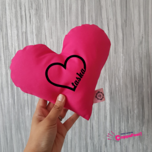 personalised Dark Pink Heart
